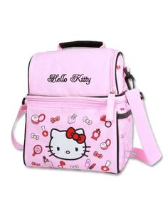 Personalised Girls Denim Purse With Hello Kitty Style Design