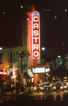 San Francisco in the with The Castro theater l San Francisco At Night, San Francisco City, San Francisco California, California Dreamin', Northern California, Night Aesthetic, City Aesthetic, Travel Aesthetic, Aesthetic Pics