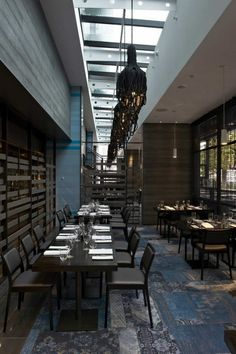 The Atlantic Restaurant / Blackmilk Interior Design BELLE AMBIANCE   J adore le tpis au sol