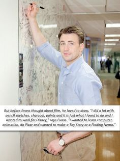 Chris Evans can draw?!
