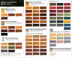 wood-stains color guide
