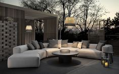 Endless compositions for a sofa that offers a new idea of comfort for the outdoors: Montecarlo Lounge moves the relaxation experience outside. An outdoor sofa Outdoor Lounge, Outdoor Spaces, Outdoor Living, Lounge Design, Curved Sofa, Outdoor Landscaping, Interiores Design, Interior Architecture, Outdoor Furniture Sets