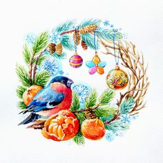 VK is the largest European social network with more than 100 million active users. Christmas Drawing, Christmas Paintings, Christmas Paper, Christmas Pictures, Handmade Christmas, Merry New Year, Christmas Cartoons, Old Cards, Decoupage