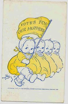 Vintage ad for women's right to vote...interesting!