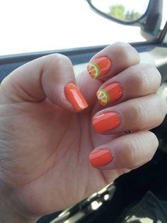 orange slice nails Nail Candy, Orange Nails, Girl Power, Nail Ideas, Ash, Nail Polish, Nail Art, My Style, Create