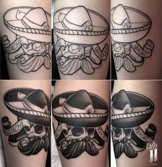 Tatoo by GROFAB tattoo artist in Paris fr #tattoo  #grofab  #matierenoiretattoo #matierenoire #paris #france #mexicanskull