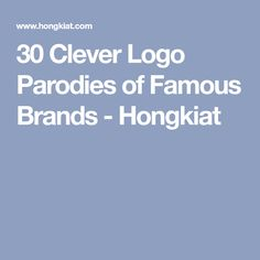 30 Clever Logo Parodies of Famous Brands - Hongkiat