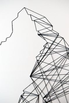How to make string art. Geometric Wall Art - Step 12