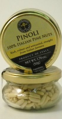 Authentic Italian Pine Nuts. Rich, robust, untoasted Italian pinoli. Perfect for sauces, vegetables, salads, and desserts -- and unimpeded snacking!