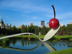 Minneapolis, MN - the ginormous spoon with a cherry, in a great sculpture garden.  We saw this during a conference on adaptations for special education students.