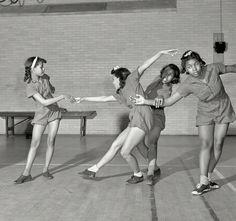 Dancing class at an elementary school in Washington DC [March 1942]