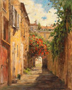 passage du provence by leonard wren giclee 30 x 24 Great Paintings, Original Paintings, Impressionist Paintings, Equine Art, Wren, American Artists, Landscape Art, Illustrations, Art Pictures