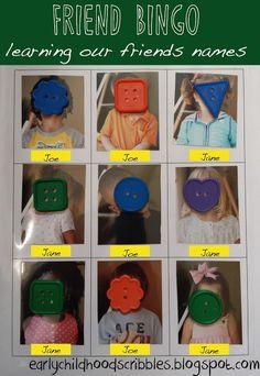 Early Childhood Scribbles: Friend Bingo