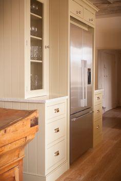 Jonathan Randall - Handmade Kitchen Company in Gloucestershire - #fridge #wood #kitchen #butchersblock