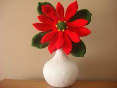 Flor de navidad a crochet.