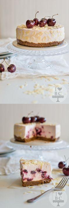 Pastel de queso y cerezas / http://bearecetasymas.blogspot.com.es/
