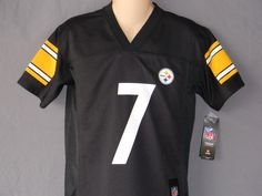 76961acd7  7 Ben Roethlisberger Football Jersey Pittsburgh Steelers Youth Sizes Logo  Black  NFLPlayers  PittsburghSteelers