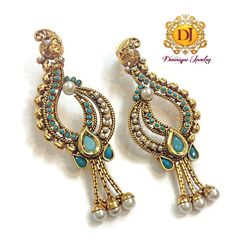 Bridal & Wedding Party Jewelry Devoted Ethnic Goldtone Indian Traditional Cz Stone Dangle Earrings Bollywood Jewellery To Rank First Among Similar Products