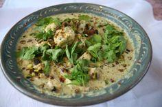 Curry vert de poulet aux herbes et au citron vert - Basboussa