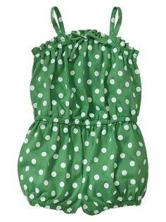 adorable polka dot romper for babies and toddlers