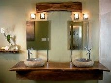 Image result for double vanity bathroom ideas natural wood