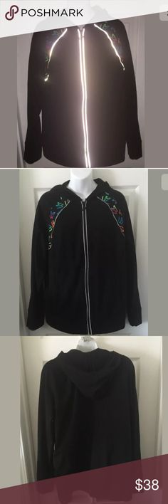 Lane Bryant LBActive Hoodie Jacket Reflective Trim NEW WITH TAGS