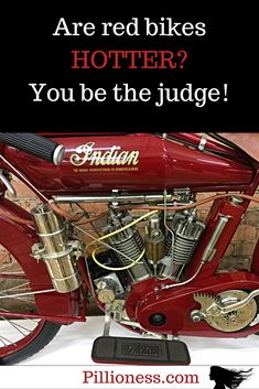 But does a motorcycle color matter? Cool Motorcycles, Vintage Motorcycles, Red Motorcycle, Bike, Posts, Classic, Color, Bicycle, Derby