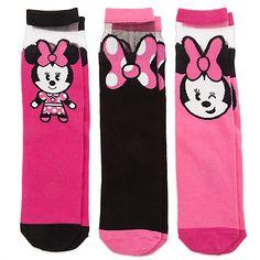 Minnie Mouse MXYZ Socks for Women - 3-Pack