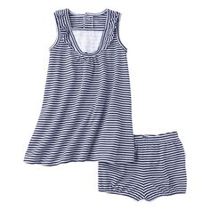 JUST ONE YOU® Made by Carters Infant Girls' 2 Piece Dress Set - Navy/White  3m