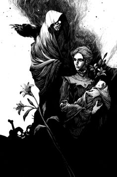 I usually don't do dark stuff, but this picture is so beautiful. Nicolas Delort - Illustration