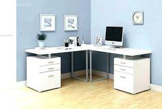 White Corner Computer Desk, Small Corner Desk, Modern Corner Desk, Corner Writing Desk, Computer Desks For Home, Computer Desk With Hutch, Modern Desk, Desk With Drawers, Storage Drawers