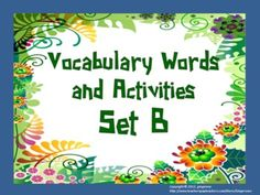 Vocabulary Word of the Day set B bundle pack  This includes both the words and activities items that are being sold individually.The objective of this pack is to introduces students to 50 vocabulary words (or Word of the Day). Each word has a definition, sentence and graphic for the students to use. The focus should be on usage and not necessarily not spelling. Thus different forms of the word are used throughout the packet. Many activities for every ten words.