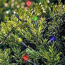 Christmas Solar Power Multi Color LED  Lights - 50 Bulbs
