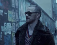 The sunglasses that James McAvoy (David Percival) is wearing in the movie Atomic Blonde (2017)