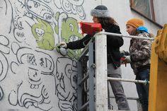 Mayamural, Kraków, Józefińska 24. Projekt: Aleksandra Toborowicz http://pinterest.com/moorale/mayamural/