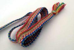 Sámi rigid heddle weaving, traditional pattern.