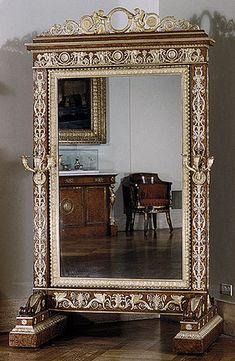 François-Honoré-Georges Jacob-Desmalter: Cheval glass (psyche) (24.230) | Heilbrunn Timeline of Art History | The Metropolitan Museum of Art.   Decorative Accessories, Directoire French Empire.