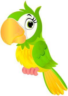 Parrot Cartoon PNG Clip Art Image