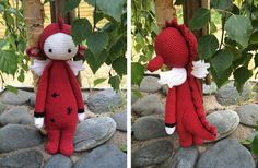 DIRK the dragon made by Christina S. C. / crochet pattern by lalylala