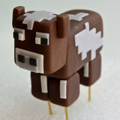 Minecraft Cow Cake Topper
