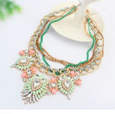 New Fashion 2015 Brand Necklaces Retro Bib Short Collar Choker Statement Luxury Necklaces For Women Water Drop Pendants Jewelry