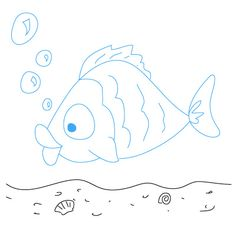 How to draw a fish.  Click to see other things to draw.