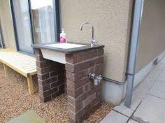 「ガーデンシンク」の画像検索結果 Outdoor Sinks, Outdoor Rooms, Outdoor Living, Patio Images, Garden Deco, Bike Storage, Water Features, Plumbing, Interior And Exterior