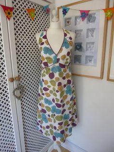 Boden Halter Neck Cotton Dress