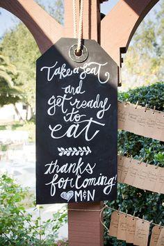 Giant label chalkboard sign @weddingchicks