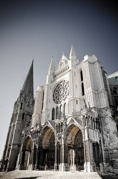 The French medieval Cathedral of Our Lady of Chartres (French: Cathédrale Notre-Dame de Chartres) is a Latin Rite Catholic cathedral located in Chartres, about 80 kilometres (50 mi) southwest of Paris, France. *