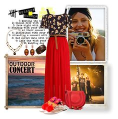 """""""Outdoor Summer Concert Gypsy Style"""" by celeste-menezes ❤ liked on Polyvore featuring Oscar de la Renta, Miss Selfridge, Charlotte Olympia, Chloé, Croft & Barrow, Kenneth Jay Lane and outdoorconcert"""