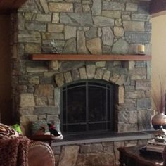 images of rustic fireplaces | Rustic fireplace | Stone Fireplace | Pinterest