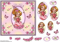 So Sweet with Roses on Craftsuprint designed by Barbara Alderson - step buy step decoupage on a card front - Now available for download!