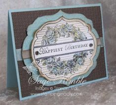 Vintage Apothecary Art Birthday Card from Stamping Madly